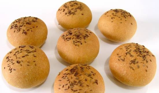Buns with caraway seeds according to GOST (oven)