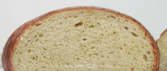 Egg bread in the oven