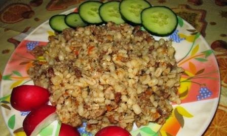 Pearl barley with minced meat (Perfezza-58)