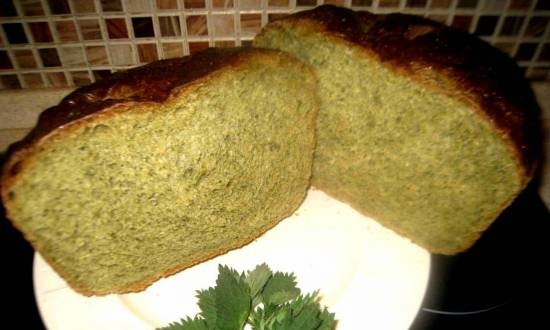 Green bread with nettles