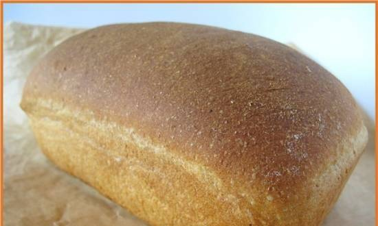 Bread with whole grain flour and apple in the oven
