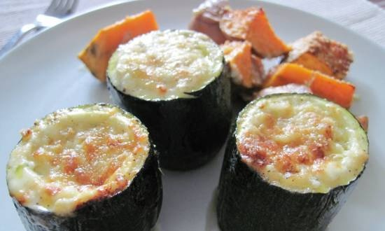 Zucchini with Dor Blue cheese
