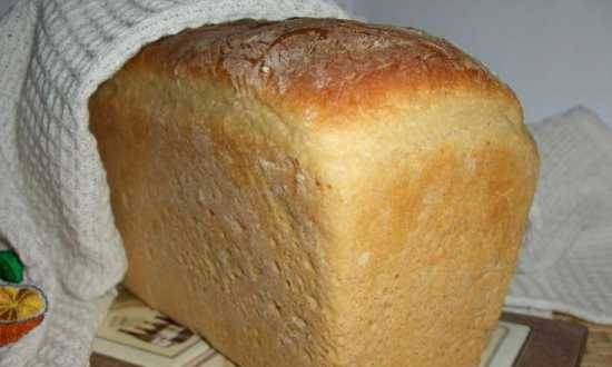 Wheat bread with soft cheese on Calvados