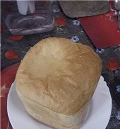Plain wheat on beer in a bread maker
