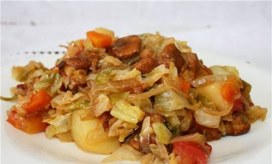 Vegetable mix with mushrooms