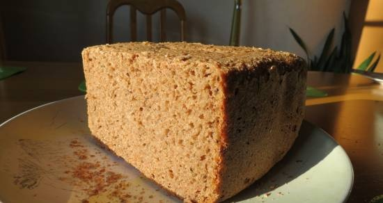 Simple sourdough bread without yeast added in the bread maker