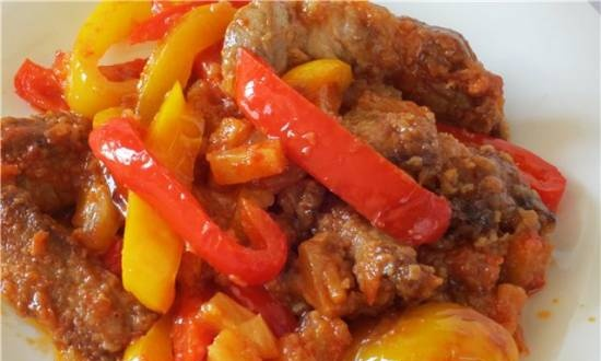Chinese style pork with vegetables