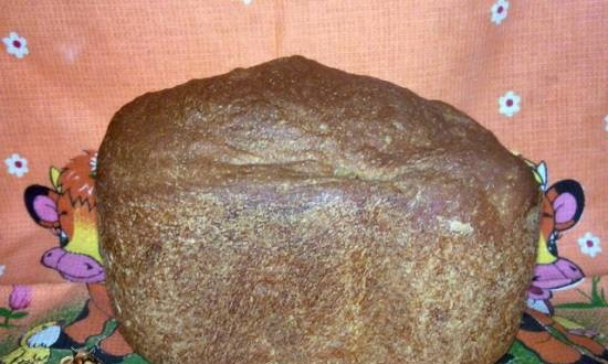 Whole flour bread with sesame seeds
