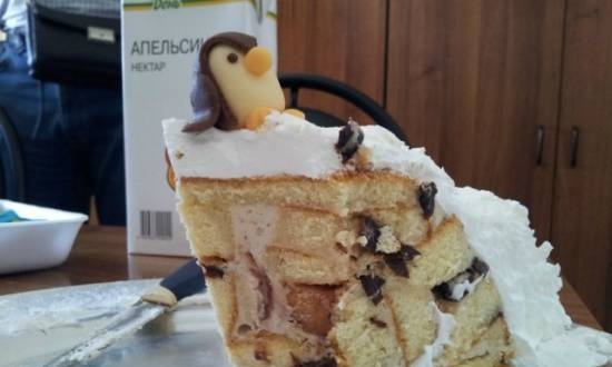 Sour cream-curd cake with prunes