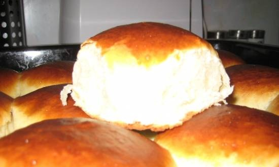 Butter buns in accordance with GOST taste from childhood