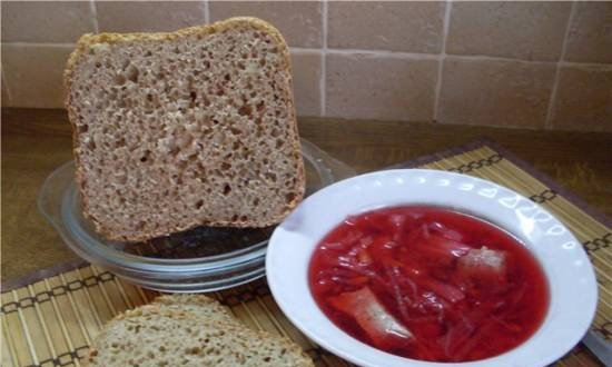 Wheat-rye with bran and rice flour