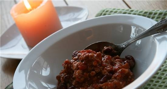 Chili con carne (first and second at once)