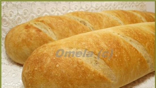 """French baguettes from """"old dough"""""""