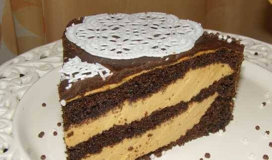 Moroccan cake with coffee