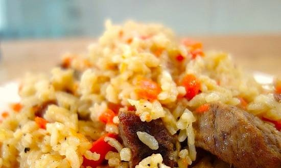 Rice with meat (master class)