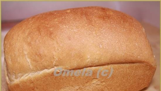 Molded milk bread from flour of the 1st grade (in the oven)
