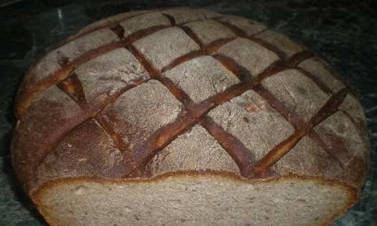 Wheat-rye sourdough bread for every day