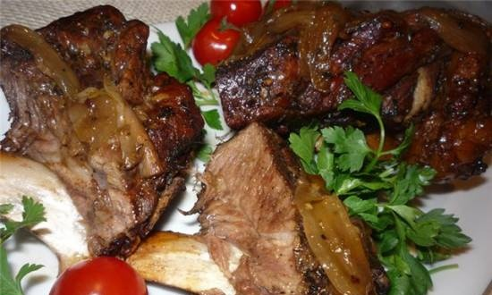 Spicy veal ribs