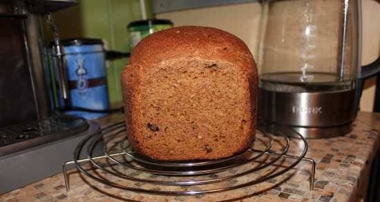 Wheat-rye bread with prunes and pumpkin seeds for Panasonic (SD-2502)
