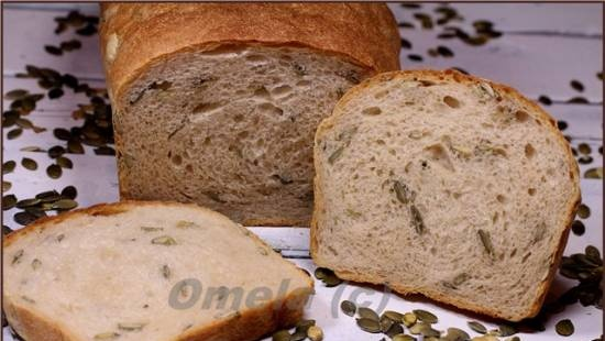 Wheat bread with pumpkin seeds (in the oven)