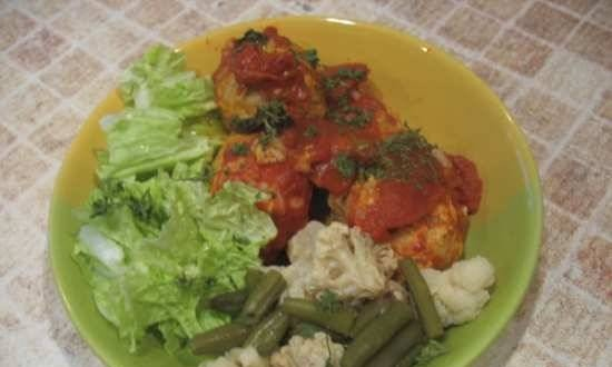 Chicken meatballs in the Liberty MP-900 pressure cooker