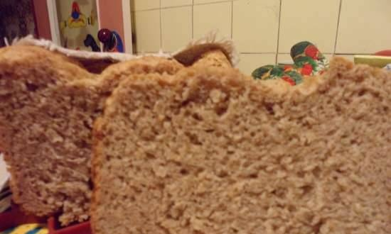 Quick bread with bran and cereal
