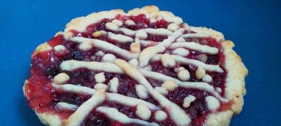 Sand cake with cranberries and walnuts