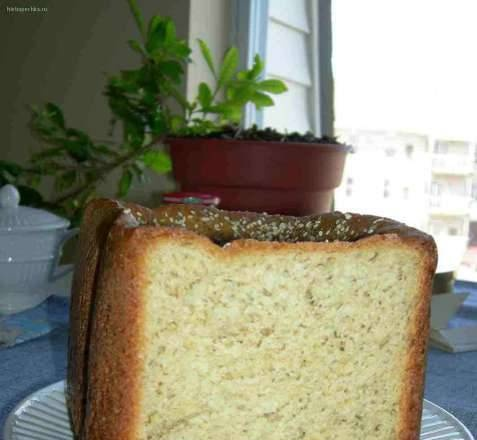 Whole wheat bread with cheese and dried herbs