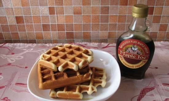 Loose waffles with condensed milk