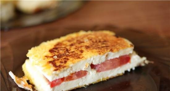 Fried Adyghe cheese with grilled tomatoes VVK