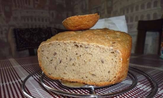 Rye bread with seeds and flax seeds
