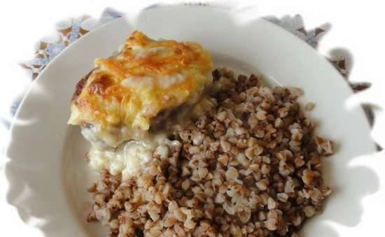 Juicy cutlets in milk sauce in the oven