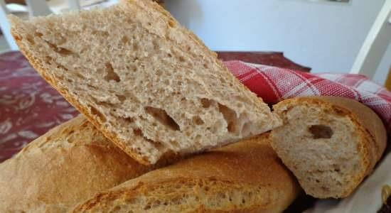 Baguettes with three kinds of flour