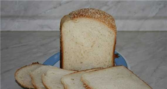 Sesame bread with honey and milk (bread maker)