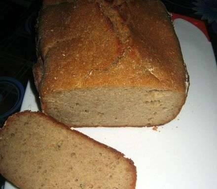 Rye bread with oat flakes (without ferments and malt) in a bread maker