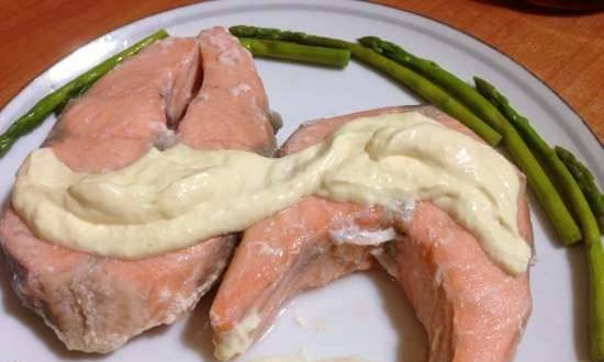 Salmon and Asparagus in Sous Vid Steba SV-1
