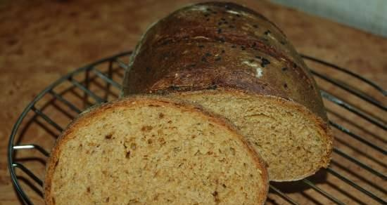 Wheat-rye bread with tomatoes (oven)