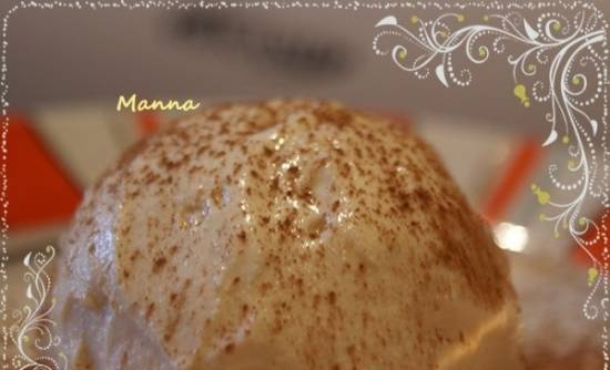 """Ice cream """"Milk creme brulee"""" (without eggs) in Brand 3811 ice cream maker"""