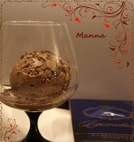 """Ice cream """"Chocolate with chocolate"""" (without eggs) in Brand 3811 ice cream maker"""
