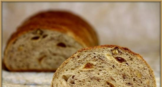 Wheat bread with figs and walnuts (in the oven)