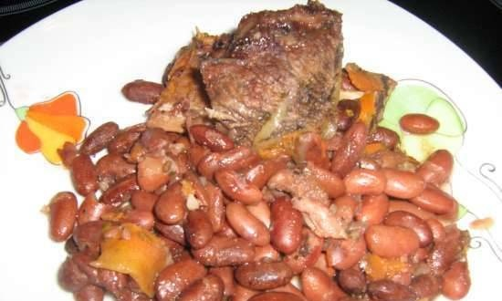 Lamb with beans