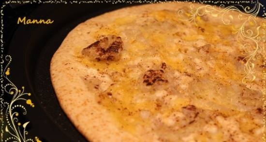 """Sweet """"pizza"""" with bananas and pumpkin"""