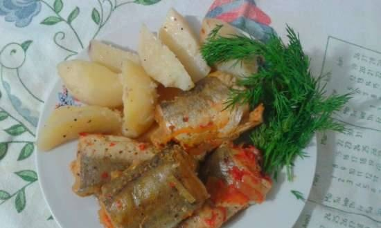 """Fish """"Quick dinner"""" in a multicooker Phillips 3077"""