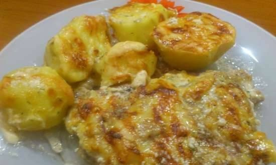 Shake in Omelkin sauce with potatoes