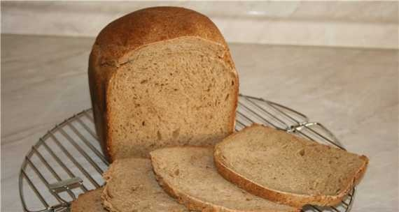 Wheat-rye bread with a mixture of peppers (bread maker)