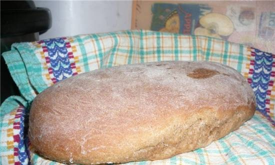 Wheat-rye bread with dark beer