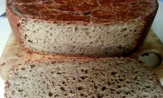 Rye bread (one hundred percent) with sourdough