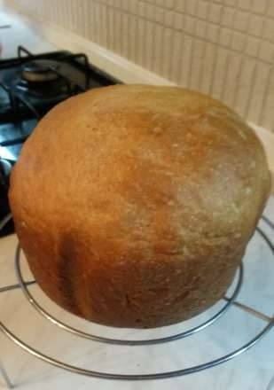 Wheat bread with sour cream and whey in a bread maker