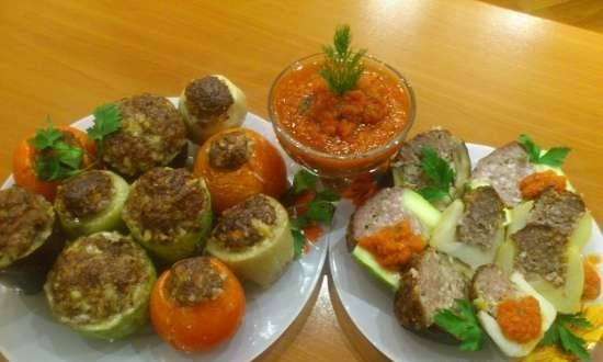 Vegetables stuffed with lamb