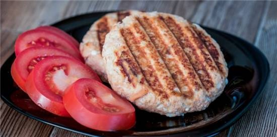 Grilled coho salmon cutlets GF 150